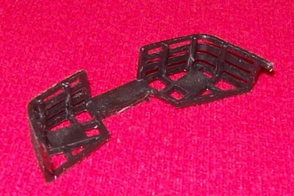 Dinky Toys 692 Leopard tank Black plastic storage baskets for rear of turret